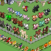FarmVille Freak Glenn's Horse, Foal, Cow & Calf Collection