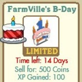 FarmVille's B-Day Sign!