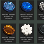 FarmVille Unreleased Button Collection