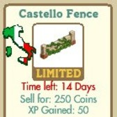 FarmVille Tuscan Decorations: Tuscan Trellis, Tomato Cart & Castello Fence