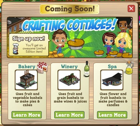 farmville crafting cottages