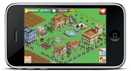 iphone farmville launches