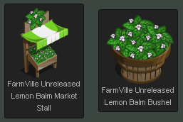 FarmVille Lemon Balm Market and Bushel