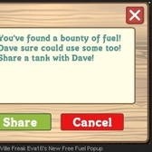 FarmVille: New Free Fuel Popup