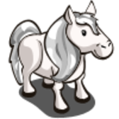 FarmVille Unreleased Silver Pony & Silver Pony Foal