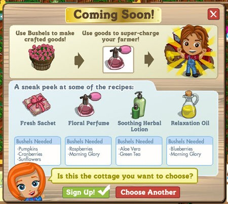 farmville spa recipes