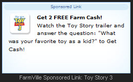FarmVille Toy Story 3 trailer free farm cash