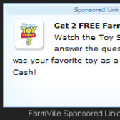 FarmVille: Watch Disney's Toy Story 3 Trailer for 2 Free Farm Cash!
