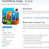 FarmVille iPhone version 1.01 crops up in the App Store