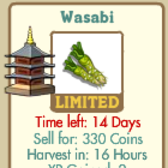 FarmVille introduces a new limited edition crop -- Wasabi