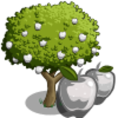 FarmVille Unreleased White Apple Tree & Rainbow Apple Tree