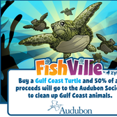 FishVille's Gulf Coast Turtle helps Audubon raise awareness and funds in oil spill