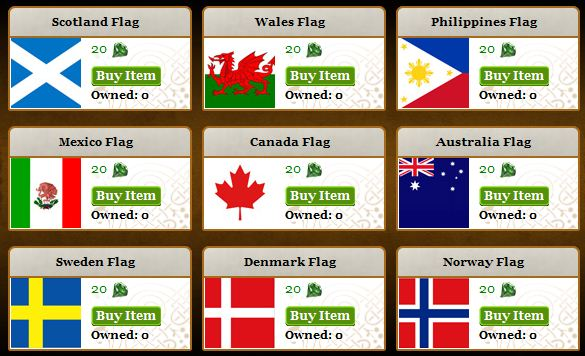 Kingdoms of Camelot flags