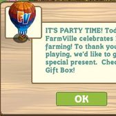 FarmVille gives away Hot Air Balloon for 1st birthday