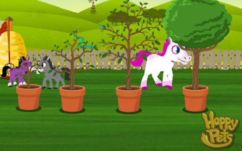 Happy Pets Apple Trees in Yard