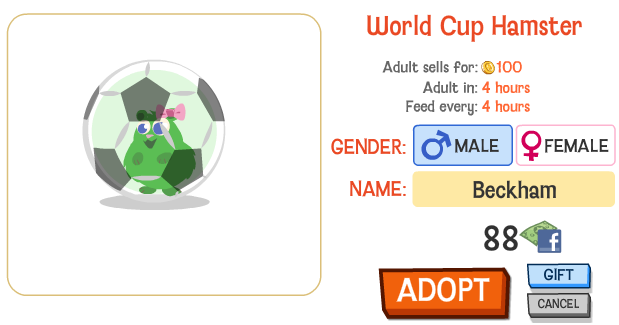Happy Pets World Cup Hamster