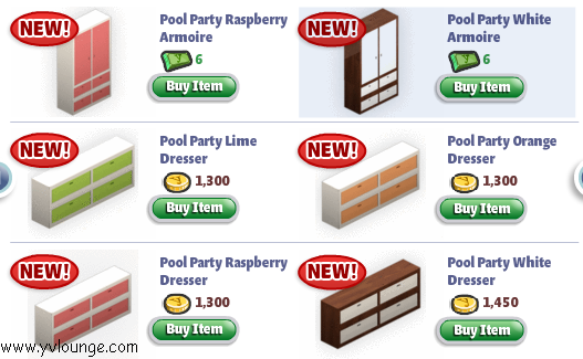 yoville pool party items