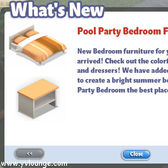 YoVille: Pool Party Bedroom Items arrive