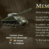 Mafia Wars offers charitable players a WWII M4 Sherman Tank bonus
