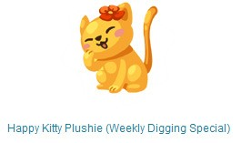 pet society happy kitty plushie weekly digging special