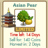 FarmVille intros new limited edition tree -- Asian Pear