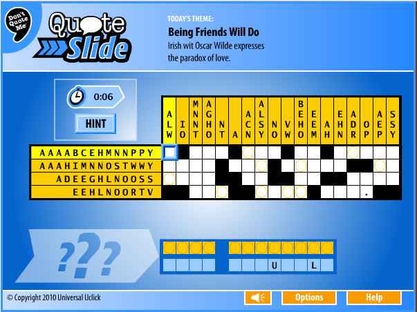 Games.com Game of the Day: Quote Slide