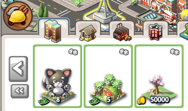 Social City's Gala Raffle in the Build icon menu