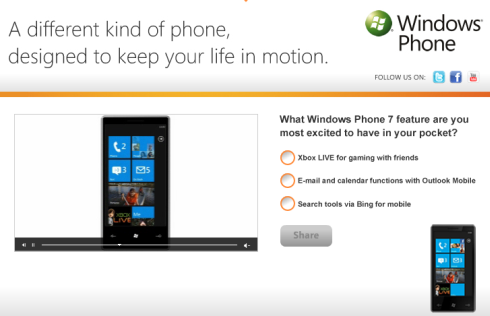 SocialVibe Windows Phone 7 survey
