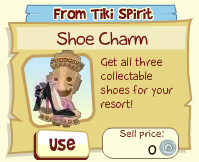 Tiki Resort Shoe Charm