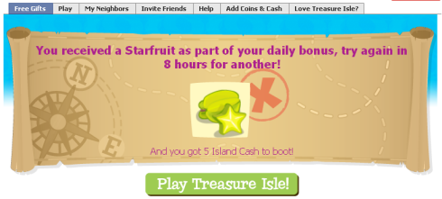 Treasure Isle 5 free Island Cash and Starfruit