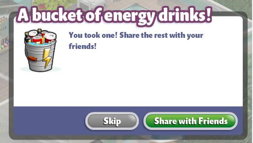 YoVille Bucket of Energy Drinks