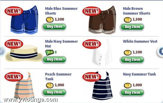yoville summer clothes