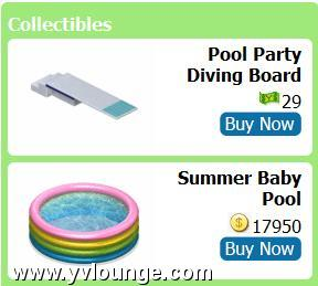 yoville pool collectibles
