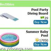 YoVille Pool Collectibles now available