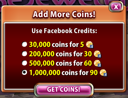 Bejeweled Blitz Add More Coins
