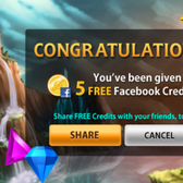 Bejeweled Blitz gives away 5 free Facebook Credits to fans