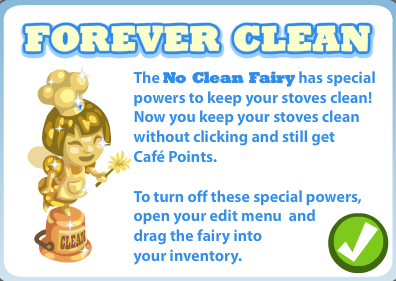 Cafe World No Clean Fairy