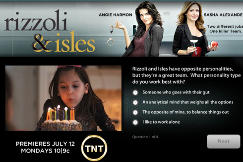 Rizzoli & Isles Cafe World survey