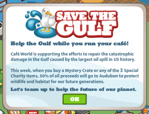 Cafe World Save the Gulf