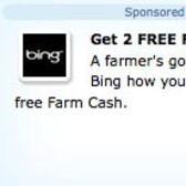 FarmVille Sponsored Link Appears: Bing