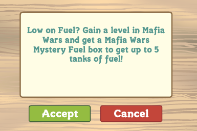 FarmVille: Low on Fuel? Gain a level in Mafia Wars and get a Mystery Fuel box