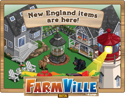 Farmville new england loading screen new animal for Animals decoration games