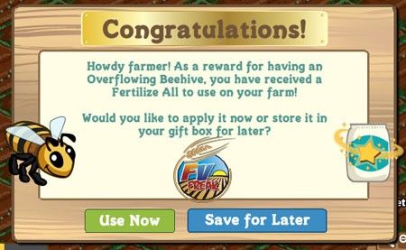 FarmVille Overflowing Beehive
