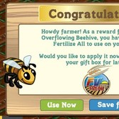 FarmVille Overflowing Beehives Yield Fertilize All Option