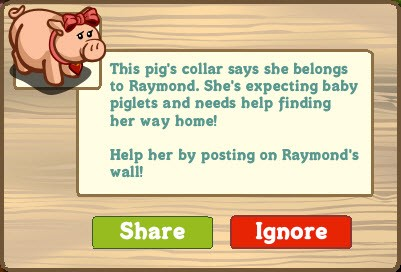 FarmVille Pregnant Pig belongs to...