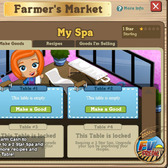 FarmVille Farmers Market Spa Crafting Building first look