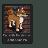 FarmVille Unreleased Adult Shiba Inu, Adult Shiba Inu Cream, & Adult Sh