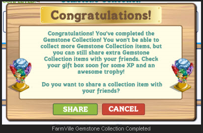 FarmVille Gemstone Collection Completed