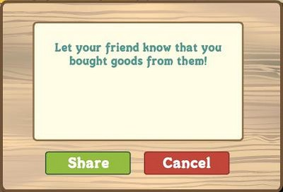 FarmVille Let Your Friends Know You Bought Goods From Them