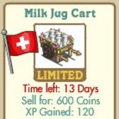 FarmVille Swiss Limited Edition Decorations: Milk Jug Cart, Swiss Lake, Matterhorn, & Swiss Alphorn
